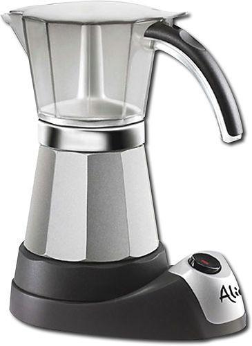 DeLonghi - Alicia 6-Cup Espresso Maker - Silver/Black