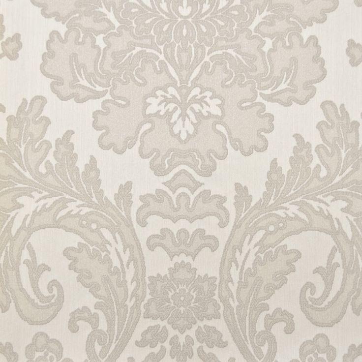 Tapet textil crem floral 072418 Sentiant Pure Kolizz Art
