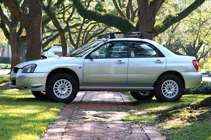 Lifted Subaru Impreza With All Terrain Tires Bad Ass
