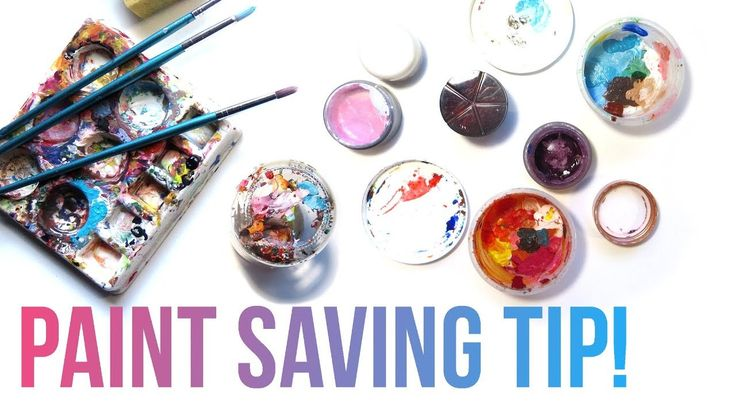 How to Save Acrylic Paint for Later