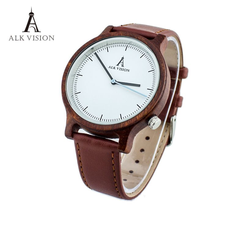 Cheap clock brand, Buy Quality clock fashion directly from China clock band Suppliers: ALK Vision Wood watch Unisex 2017 Fashion Wristwatch women mens watches top luxury brand genuine leather band clock