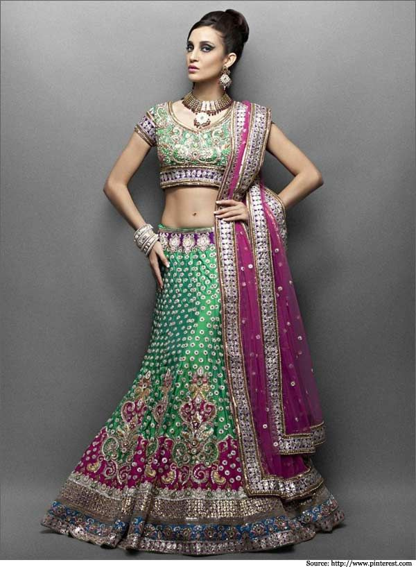 Lehenga For Mehndi Ceremony : Bridal lehengas for your mehendi ceremony designer