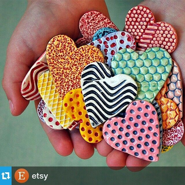 colorful heart magnets
