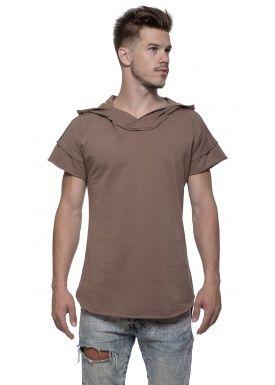 Short sleeve hoody khaki