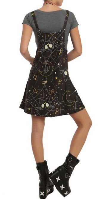 Official Sailor Moon Luna Dress from Hot Topic! Info, pics and shopping links here http://www.moonkitty.net/buy-sailor-moon-dresses-skirts.php #sailormoon #anime #geek