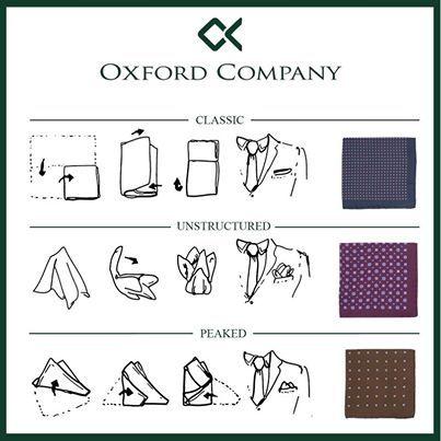 Ποσέτ: Μαντηλάκι που ξεπροβάλλει διακριτικά από την τσέπη του σακακιού. 3 τρόποι… 3 ιδέες! #tips