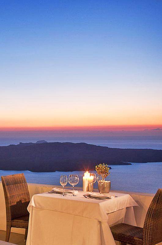 Wedding Reception in Santorini Greece