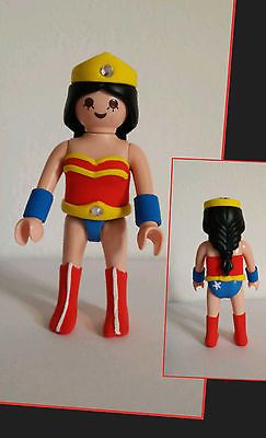 CUSTOM WONDER WOMAN SUPERHEROES MUJER MARAVILLA - PLAYMOBIL