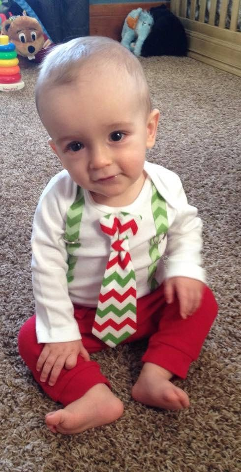 Newborn Christmas Picture Outfit Baby Boy First Christmas Tie
