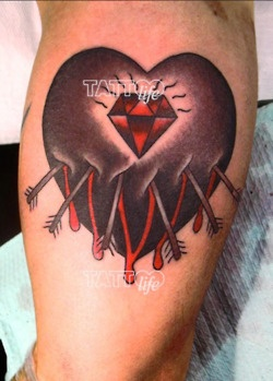 italian diamonds tattoo by morg morganic heart genova we got 200 more into our tattoo. Black Bedroom Furniture Sets. Home Design Ideas