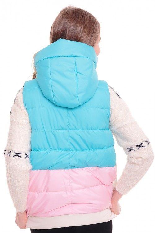 Жилетка А2972 Размеры: XL, 2XL Цена: 1425 руб.  http://optom24.ru/zhiletka-a2972/  #одежда #женщинам #жилетки #оптом24