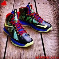 Nike LeBron X Man of Steel Custom