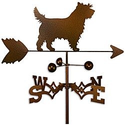 Handmade Cairn Terrier Dog Copper Weathervane | Overstock.com Shopping - Great Deals on Garden Accents