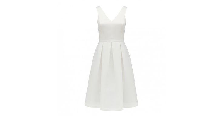 Yasmin Beyaz Midi Balo Elbisesi