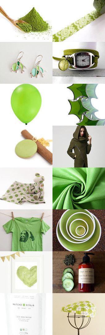 Green tea by nico on Etsy--Pinned with TreasuryPin.com
