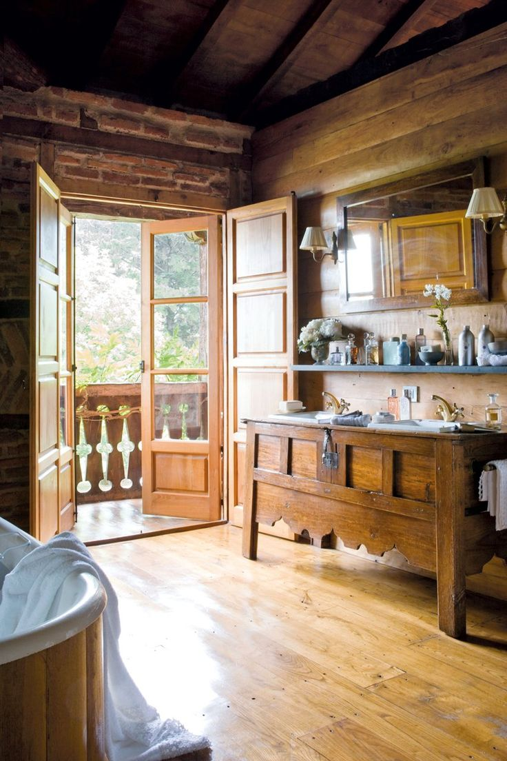 183 best rustic kitchens baths images on pinterest home rustic bathroom