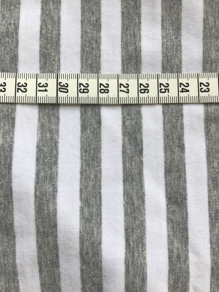 Simple Stripe Organic Cotton Spandex Jersey - Grey/White 195 gsm (6006.24.00.00)
