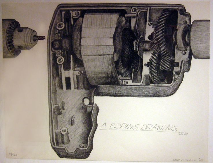 Lee Lozano, A Boring Drawing, 1969, Alden Projects