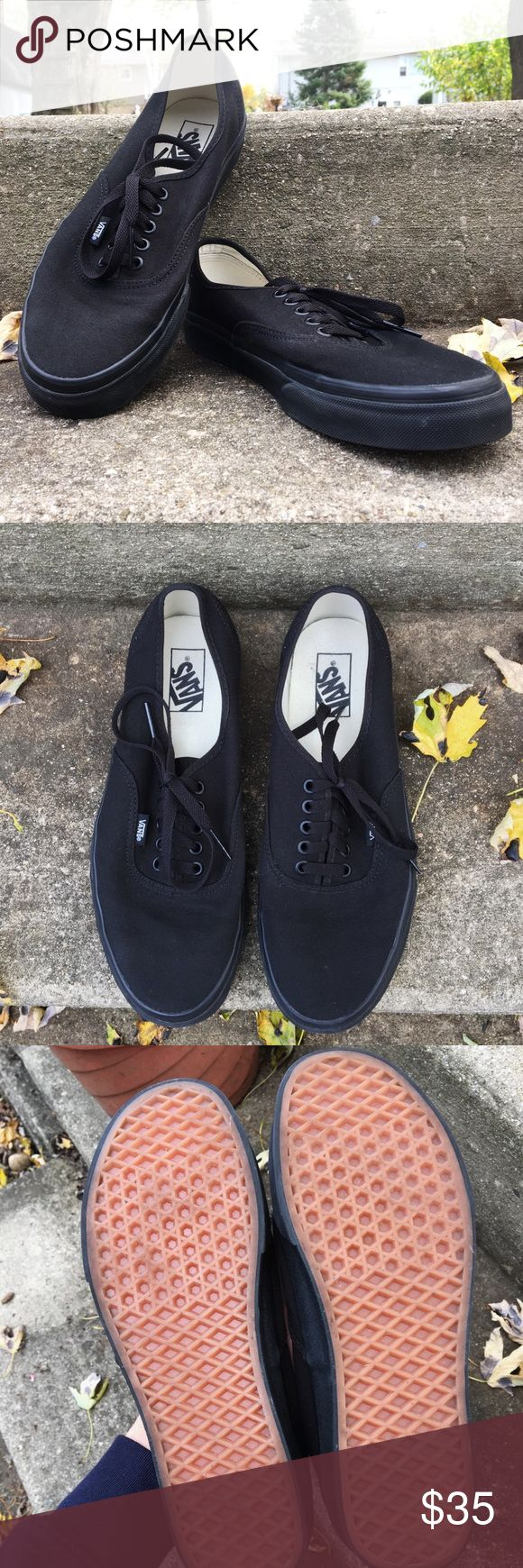 "Vans Authentic Black Shoes This pair of ""Vans Authentic Black Shoes"" is in AMAZING quality! These shoes just don't fit my style so I decided to list them so some could enjoy them! Vans Shoes Loafers & Slip-Ons"