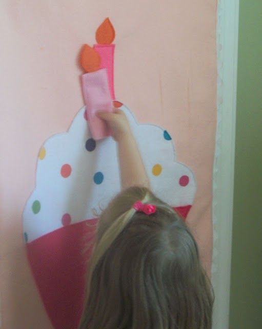Pin the candle on the cupcake tutorial,  great for parties - better than a tail on a donkey esp for girls