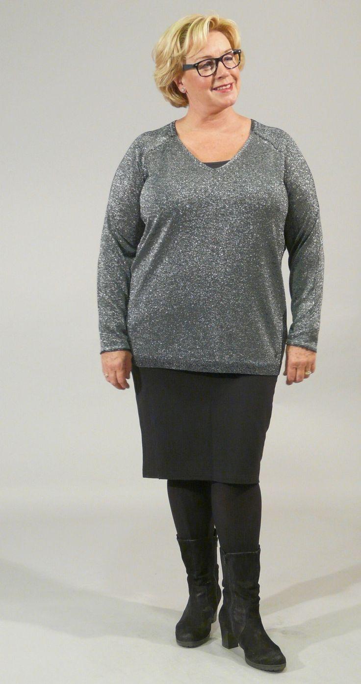 Bodycelli.nl Dè webshop voor grote maten dameskleding!::trui::trui lurex vh Open End