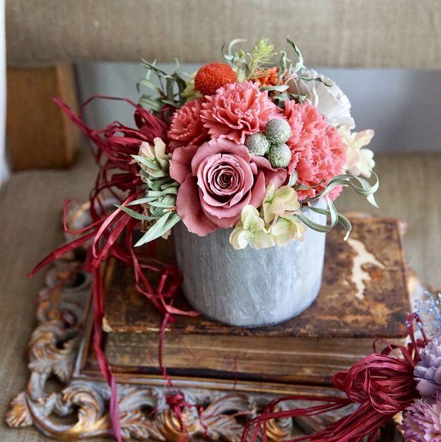 Le Sourire:母の日ギフトや贈呈用に…紅茶色のフラワーギフト | ハンドメイドマーケット minne
