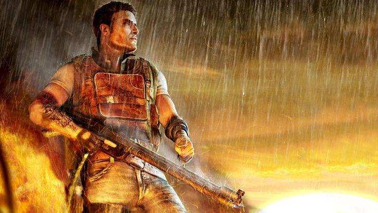 Impressive Far Cry Gun Rain Fire Tattoo Jack Carver Wallpaper Wallpaper