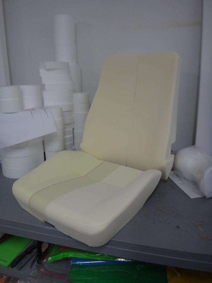 Forma. Asiento de Automóvil. Mecanizado CNC como prototipo para fabricante de moldes de inyección de espuma. Realización: www.poliespan.com