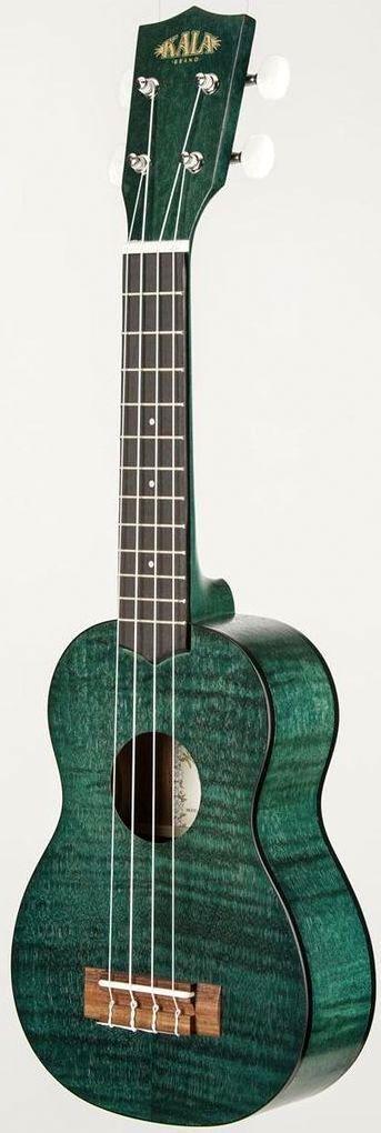 Kala KA-SEMG transparent green satin exotic mahogany Soprano Ukulele (I own a number of Kala Ukuleles but I do like this finish) --- https://www.pinterest.com/lardyfatboy/