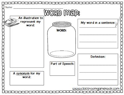 Classroom Freebies: Word Map {Vocabulary Practice}