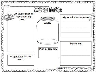 Word Map {Vocabulary Practice}