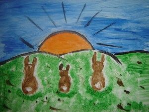 Easter Bunnies Visual Arts lesson