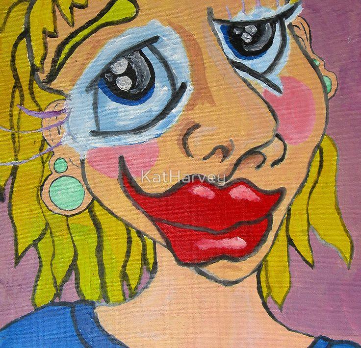 """Self Portrait"" by KatHarvey | RedBubble"