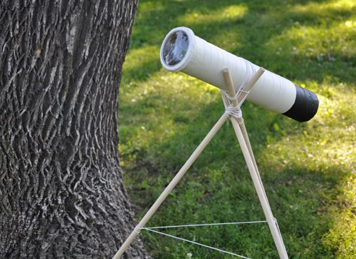 Here are step by step instructions on how to create a simple telescope. This can be an activity for the whole class to do together. It doesn't have the power to see into outer space, but they can examine things outside the school and learn about simple space technology in the process.