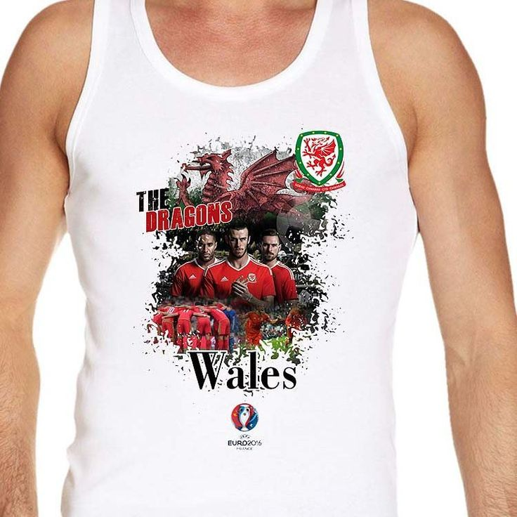 #Euro2016 #WALES #Dragons #Dreigiau #GarethBale #ChrisGunter #EUFA #EUFA16 #PES #Football #Sports #Championship #European #Season2016 #vest #tanktop #men