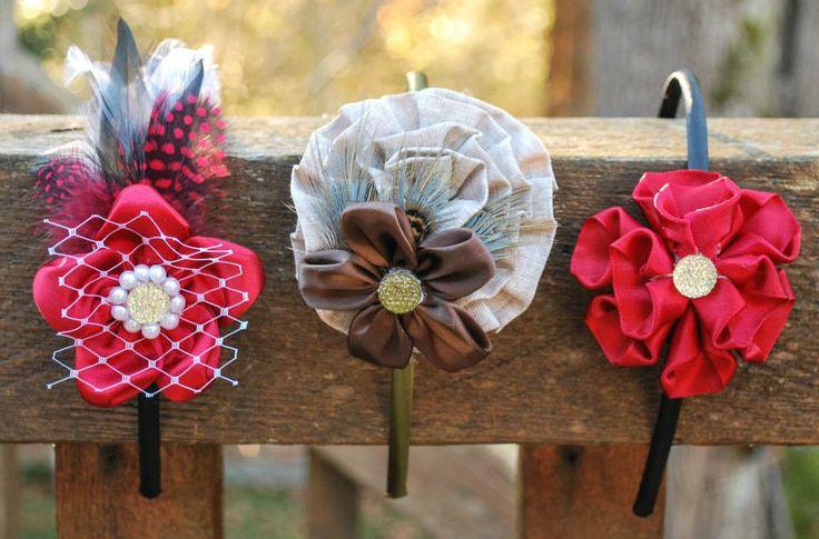 Unique headbands, hair accessories, feather designs, children gifts