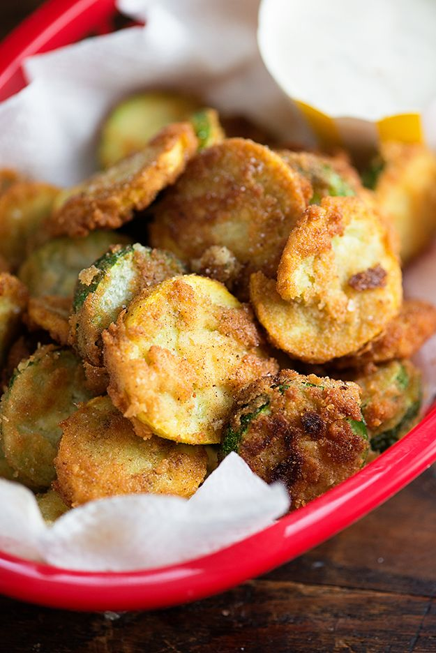 Fried Zucchini - this low carb version of fried zucchini is a new family favorite snack!