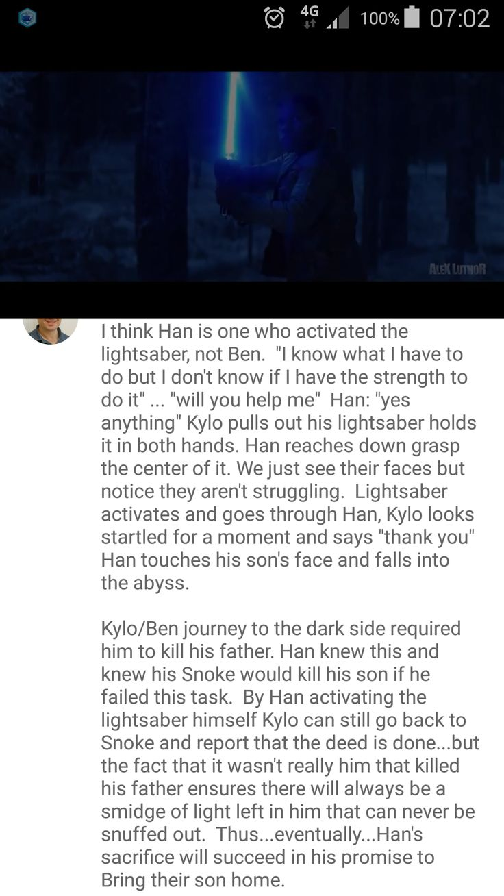 Hmm, maybe. But Han looked pretty surprised too. I kind of took it as, Kylo took out the saber and offered it to Han, and I took that to mean that Kylo wanted Han to kill him with his own lightsaber. End it. Han realized what Kylo was asking him to do and balked, Kylo changed his mind and killed Han instead.