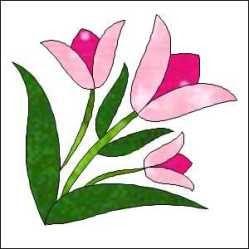 Morning Glory Designs: tulip tiles