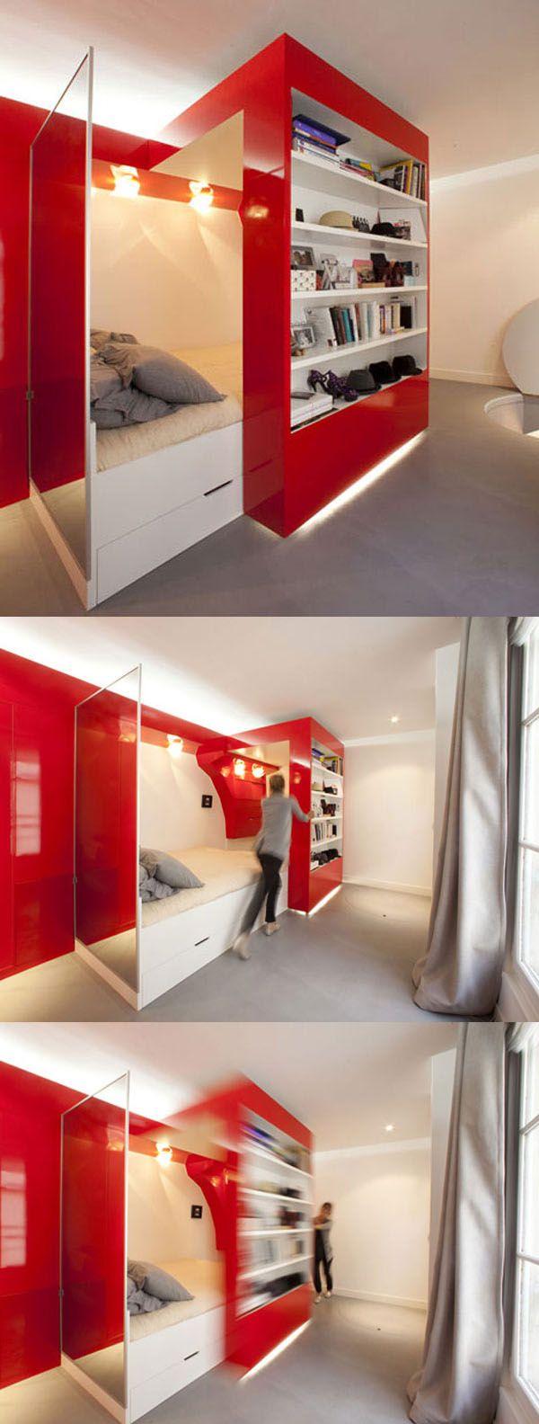 A hidden bed 38 Smart Small Bedroom