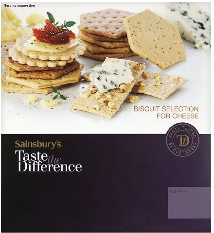 Sainsbury's Taste the Difference Thin & Crisp Savoury Selection (300g)