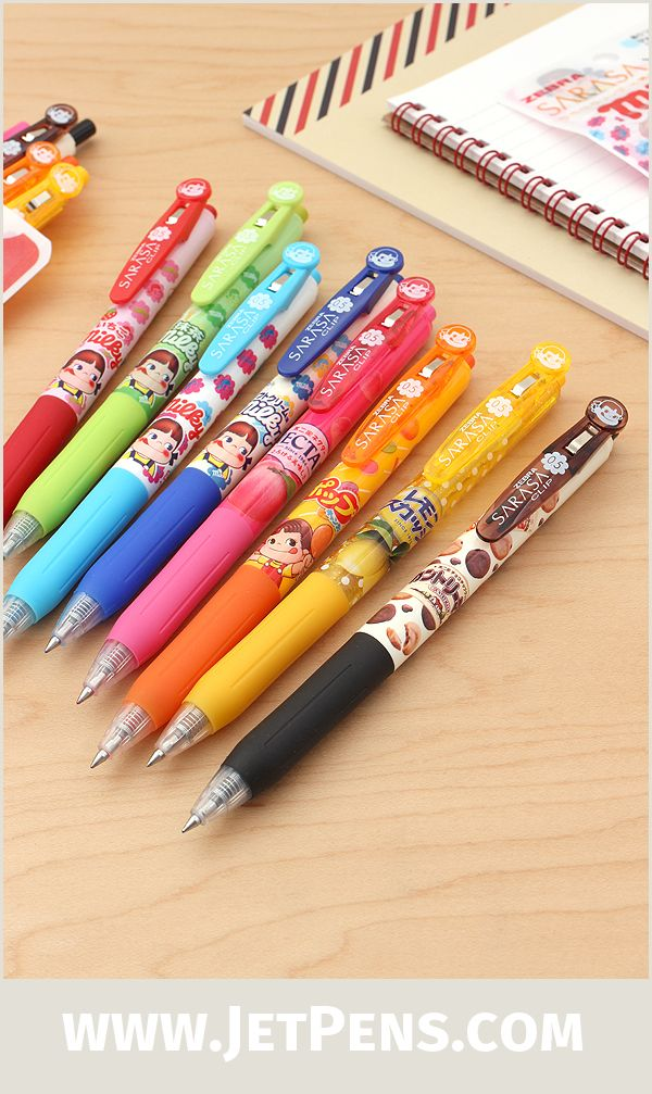 A collaboration with Japanese candymaker Fujiya, new Zebra Sarasa Scented Gel Pens have delicious scents like Lemon Soda.