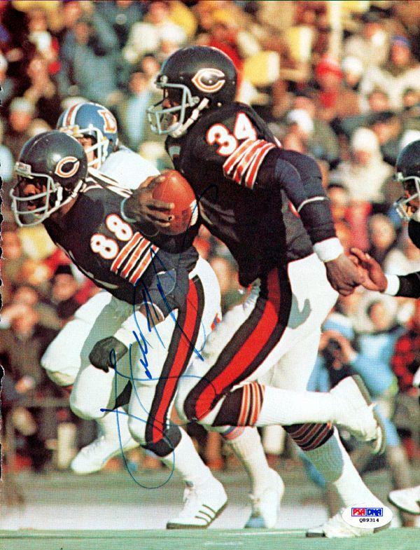 Walter Payton Autographed Chicago Bears Magazine Page Photo PSA/DNA - Gameday Sports & Memorabilia