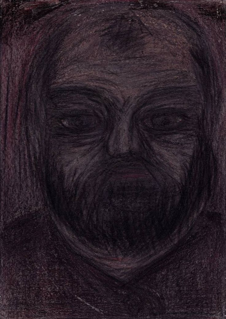 "Drawing: Pastel and Pencil on Paper.   Size: 11.7 H x  8.3 W x  0  in   Knight ""Twin Peaks"". A person who is ""on both sides of the cheese."" Prominent businessman who enjoys the support of the shadow capital.   All the characters are fictional, representing types of people. There are not portraits of real man or woman."