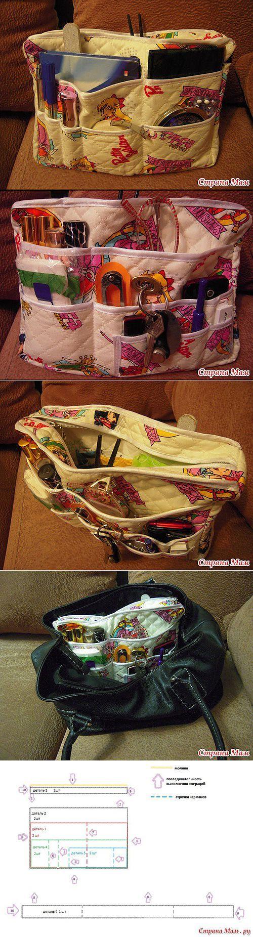 Органайзер для сумки. | рукоделие | Постила