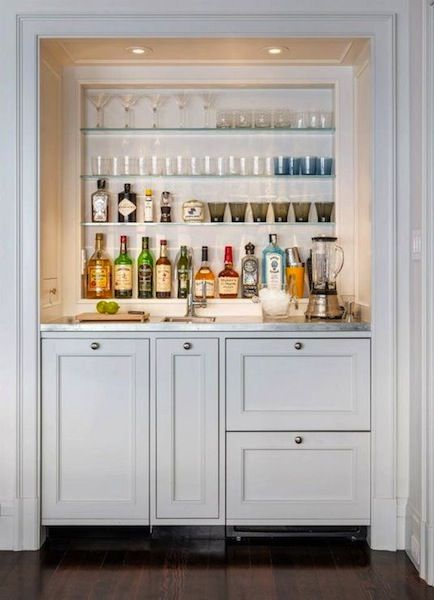 Sweet Chaos Home: Wet Bar Under The Stairs                                                                                                                                                      More