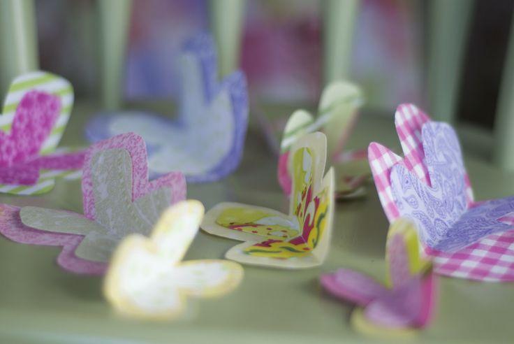 fabric scrap butterflies
