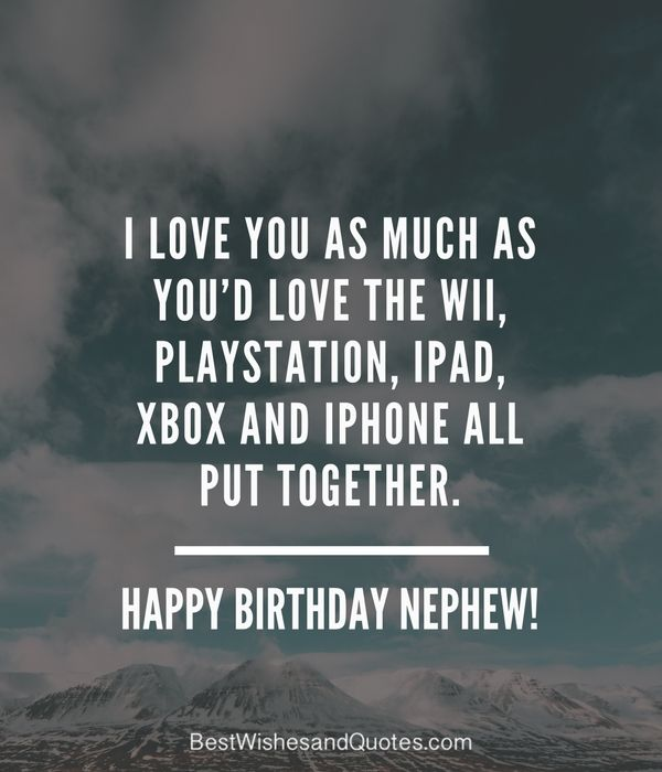 Funny Happy Birthday Messages for Nephew