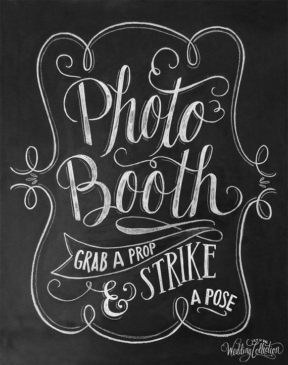 Photo Booth Sign Wedding Photo Booth Print Grab A by LilyandVal