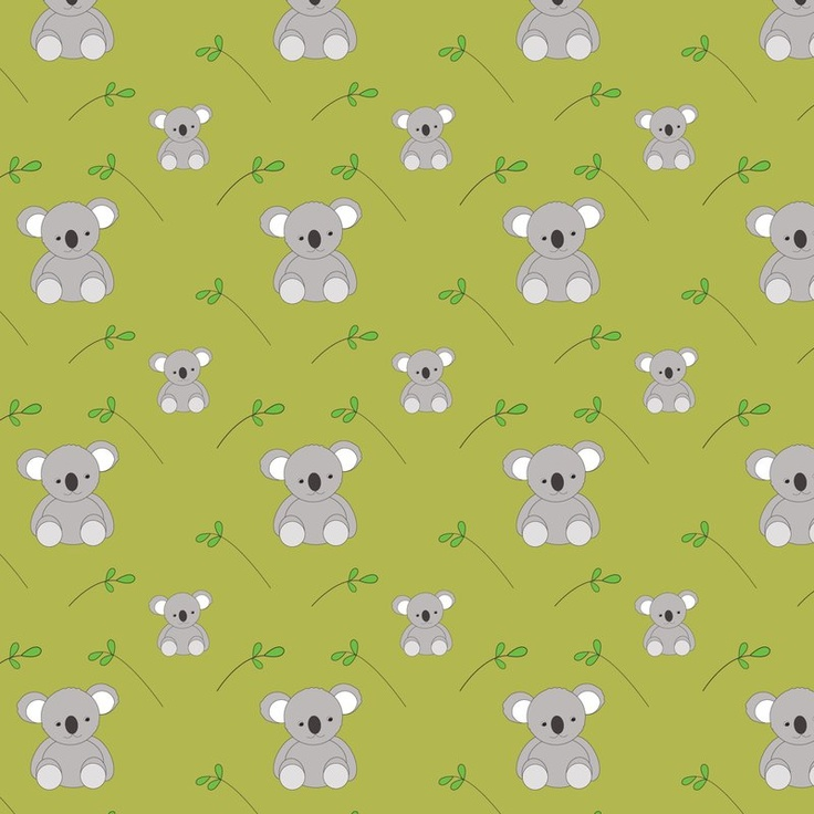 Koala fabric wallpaper and wall decals on Spoonflower   101 custom